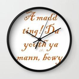 BuntPatois Wall Clock
