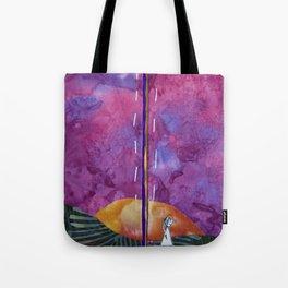 Walking through sunset Tote Bag
