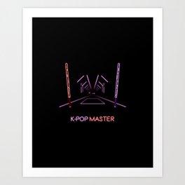 K-POP Master V2 Art Print