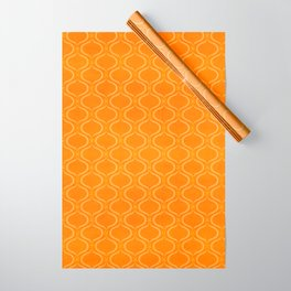 Retro Tangerine Print / Geometric Pattern Wrapping Paper