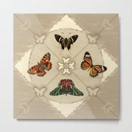 Butterfly Code Metal Print
