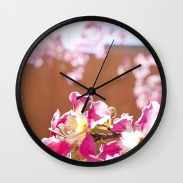 The Flowers on the Silk Floss Tree Wall Clock