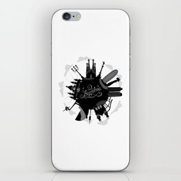 Barcelona World with significant buildings iPhone Skin