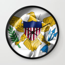 United States Virgin Islands Flag Wall Clock