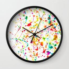 Sunday Splatter Wall Clock
