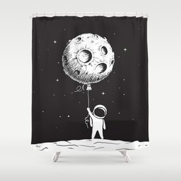 Fly Moon Shower Curtain