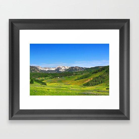 Crested Butte Framed Art Print