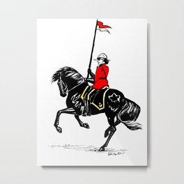Mountie Metal Print