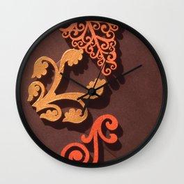 WOOD FILIGREE Wall Clock