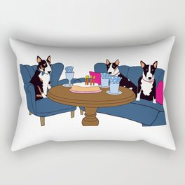 Bullterrier birthday party Rectangular Pillow