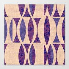 Seventies violet Pattern Canvas Print