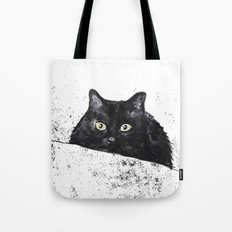 black cat yellow eyes Tote Bag