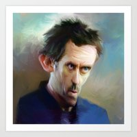 house md Art Prints featuring house md by robotrake