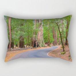 redwoods, redwood, landscape, landscapes, Sequoia, Sempervirens, California, Big Basin, Big Basin Redwoods, Santa Cruz County, Glenn Franco Simmons, redwood landscape, redwood photos, Rectangular Pillow
