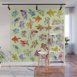 Fish Swimming in Sea Wall Mural