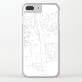 Abstract Map of UC Berkeley Campus Clear iPhone Case