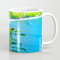 hawaii Mugs featuring Hawaii by 3 Chics Couture