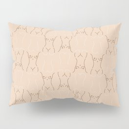 Nude Lady Lines  drawing/ pattern of female body Pillow Sham