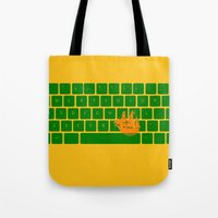 spaceship Tote Bags featuring Spaceship by Dampa