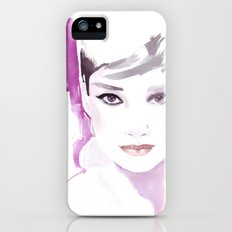 Fashion illustration in watercolors and ink Slim Case iPhone (5, 5s)