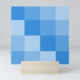 Four Shades of Light Blue Square Mini Art Print