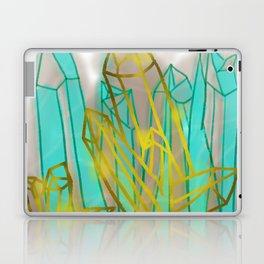Crystals - Cyan Laptop & iPad Skin