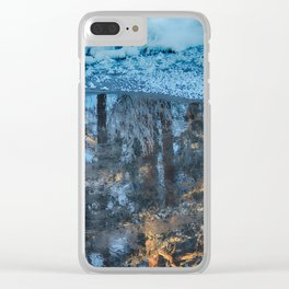 Winter Reflections Clear iPhone Case