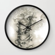 Tea bath Wall Clock