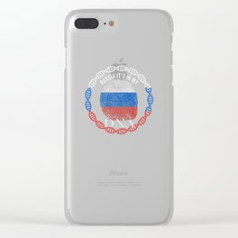 Russia Its In My DNA Clear iPhone Case