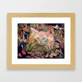 Alice's Cat Framed Art Print