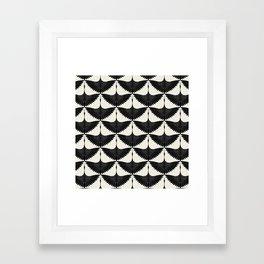 CRANE DESIGN - pattern - Black and White Framed Art Print