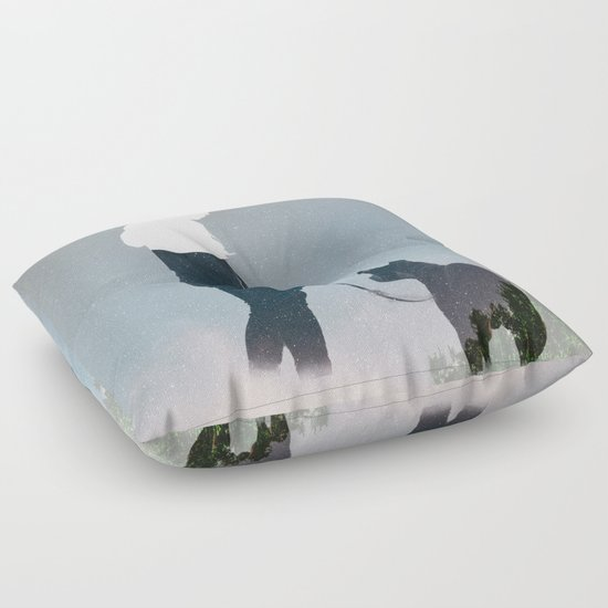 FRIENDSHIP in the space Floor Pillow