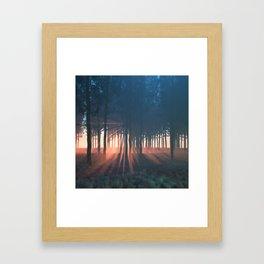 Dawn rays Framed Art Print