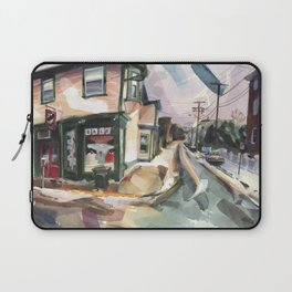 A brisk wind and melting snow mark the end of winter in Newport Laptop Sleeve