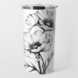 Anemone Flowers Travel Mug