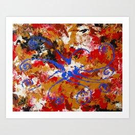 Murky Reef Art Print