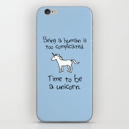 Time To Be A Unicorn iPhone Skin
