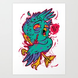 Watch out! Owl in sight! Ops. Art Print