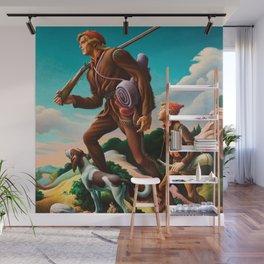 Classical Masterpiece 'The Kentuckian' by Thomas Hart Benton Wall Mural