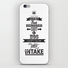 the fast and the furious iPhone & iPod Skin