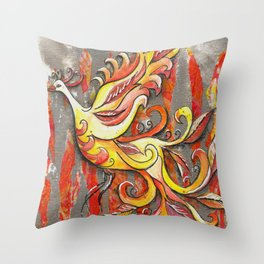 Reborn in the Flame Throw Pillow