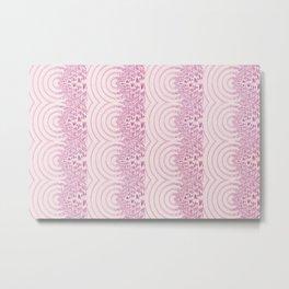 pattern rose tones Metal Print