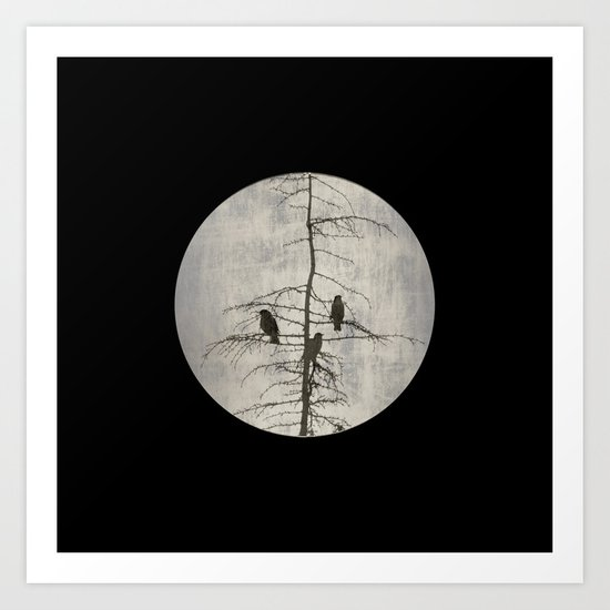 A Full Moon Night Art Print