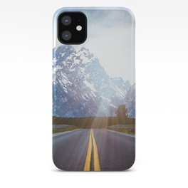 Mountain Road - Grand Tetons Nature Landscape Photography iPhone Case