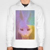 rabbit Hoodies featuring rabbit by Maria Enache