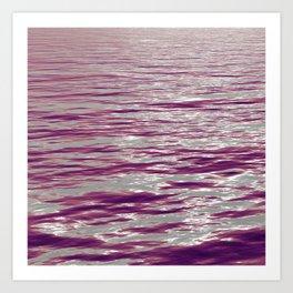 Pink Waves Art Print