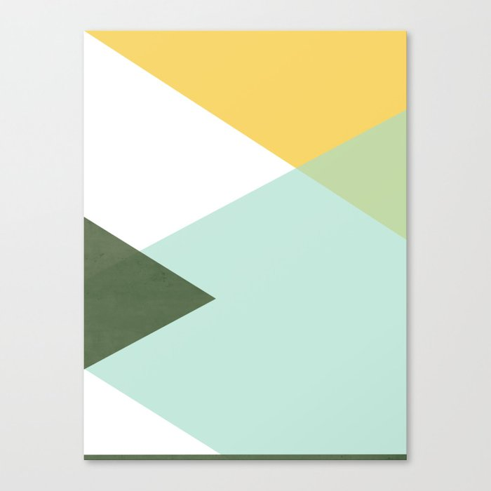 Geometrics - citrus & concrete Leinwanddruck