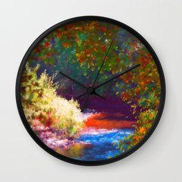 Reflections - Merced River No.2 Wall Clock