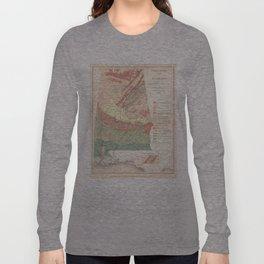 Vintage Agricultural Map of Alabama (1882) Long Sleeve T-shirt