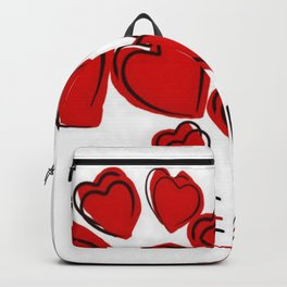 I Love You Greeting With Hearts Backpack